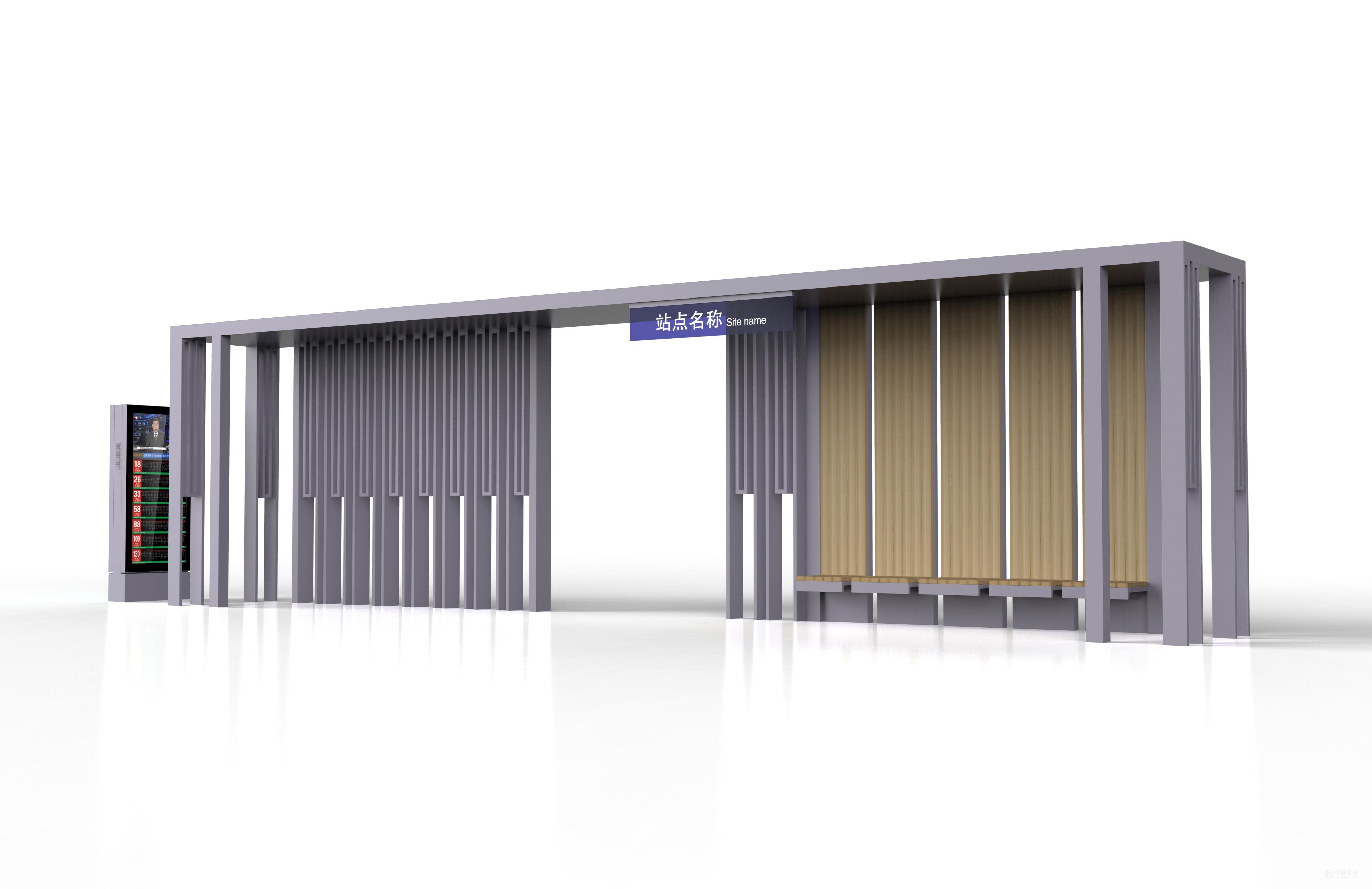 候车亭设计,公交站台设计