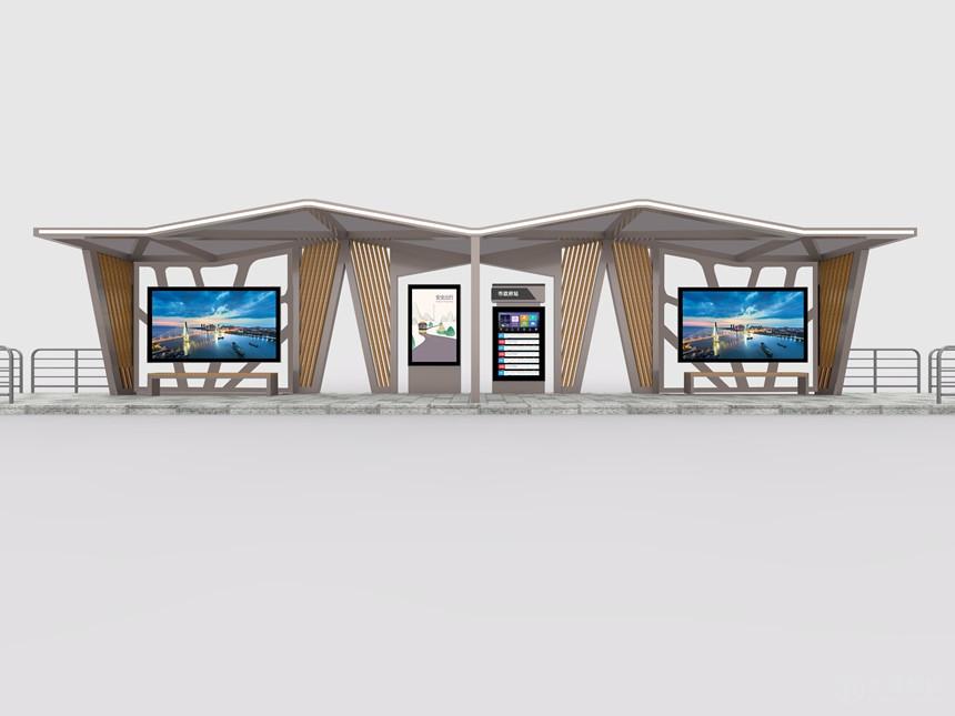 海口公交站廊,公交候车亭,站台生产厂家